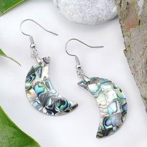 Abalone Shell & Sterling Silver Drop Earrings
